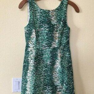ZARA BASICS- Sleeveless dress w V back-Green/ XS